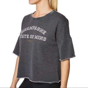 Betsy Johnson Champagne State of mind T-shirt